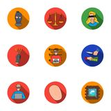 Crime set icons in flat style. Big collection of crime vector symbol stock illustration Stock Photos