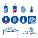 Crime. A set of crime and lab icons Royalty Free Stock Photography