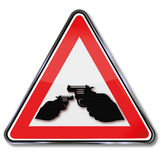 Crime and shooting with revolvers Stock Photography