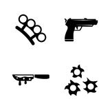 Crime. Simple Related Vector Icons Royalty Free Stock Photography