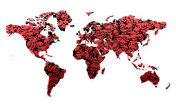 Crime Statistics. Death Map showing the World royalty free illustration