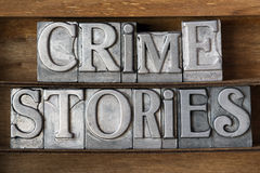 Crime stories stock photo