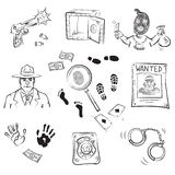 Crime Story Sketches Stock Images