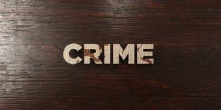 Crime - titre en bois sale sur l'érable - image courante gratuite de redevance rendue par 3D Image stock