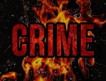 Crime typographic concept background. Design in grunge style in warm dark tones Stock Image