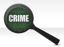 Crime under investigation. Illustration design over white Stock Photography