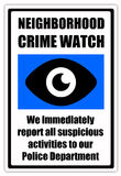 Crime watch. Neighborhood crime watch reporting suspicious activities to the police Stock Photo