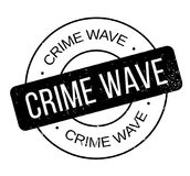 Crime Wave rubber stamp Royalty Free Stock Image