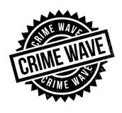 Crime Wave rubber stamp Stock Images