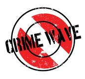 Crime Wave rubber stamp Royalty Free Stock Photo