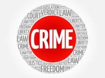 Crime word cloud Stock Photos