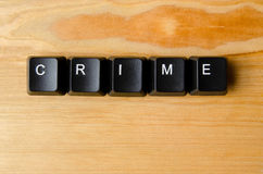 Crime word. With keyboard buttons Stock Photo