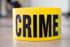 Crime. Word on  scene tape Stock Photo