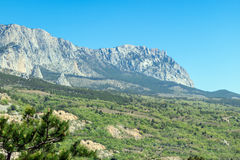Crimea, Ai-Petri Mountain Range. View from below Stock Photography