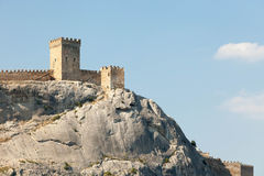 Crimea. Ancient Genoese fortress against the blue sky Stock Images