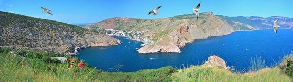 Crimea, bahía de Balaklava Fotografía de archivo