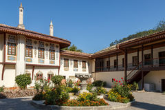 Crimea, Bakhchisarai. Courtyard of palace of the Khans Royalty Free Stock Photography
