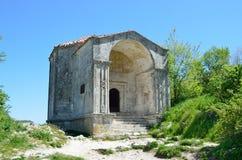 Crimea, Bakhchisaray, cave city Chufut Kale. Ancient Durbe Dzhanike Khanum Royalty Free Stock Photos