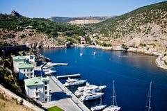 Crimea, Balaklava bay Stock Images