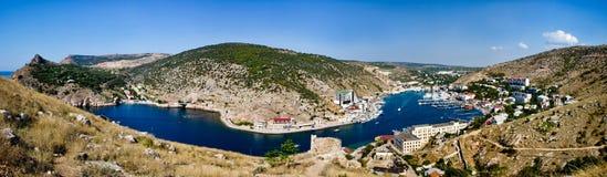 Crimea Balaklava fjärd royaltyfri fotografi