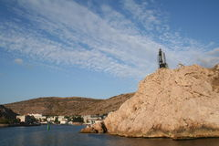 Crimea. Balaklava harbor. Royalty Free Stock Images