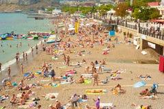 Crimea beach in the summer Royalty Free Stock Photos
