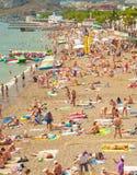 Crimea beach in the summer Stock Photography
