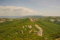 crimea berg Sikten uppifrån av platån crimea rest royaltyfri foto