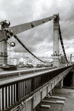 Crimea bridge over Moscow-river infrared view Stock Photo