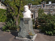 Crimea. Bust of the Prince L.S. Golitsyn (1845-1915) Stock Photos