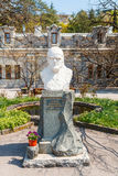 Crimea. Bust of the winemaker A.A. Egorov Stock Images
