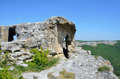 Crimea, the cave city Mangup Kale Stock Image