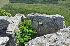 Crimea, the cave city Mangup Kale Stock Photo