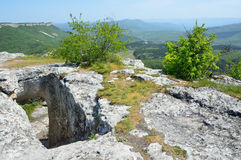Crimea, the cave city Mangup Kale Royalty Free Stock Images