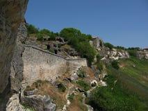 Crimea . Chufut - Kale. Cave city 25 ,05,2007. royalty free stock photos
