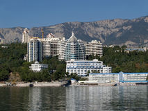 crimea Complesso dell'hotel in Jalta Fotografia Stock Libera da Diritti