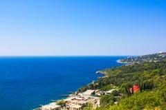 crimea Costa sur el Mar Negro Foto de archivo libre de regalías