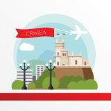 Crimea detailed silhouette. Stock Images