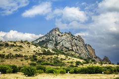 Crimea, extinct volcano Kara-Dag mountain reserve, Ukraine Royalty Free Stock Photos