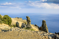 Crimea, extinct volcano Kara-Dag mountain reserve, Ukraine Royalty Free Stock Images