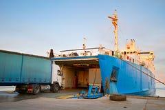 Crimea ferry boat Royalty Free Stock Photography