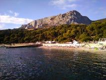 The Crimea, Foros. The Crimea, The South coast, Foros. Mountain, Black Sea, forest, people, autemn, shining sun stock images