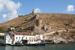 Crimea. Fortress in Balaklava harbor. Stock Photo