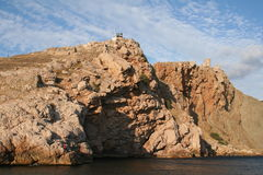 Crimea. Fortress in Balaklava harbor. Stock Photos