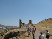Crimea.Genoese fortress in Sudak Royalty Free Stock Photos