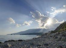 Crimea Gursuf sea travel Stock Image