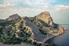 Crimea - Headland. Landscape of headland in Crimea royalty free stock photography