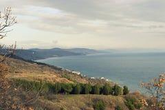 Crimea i området av Alushta royaltyfria foton