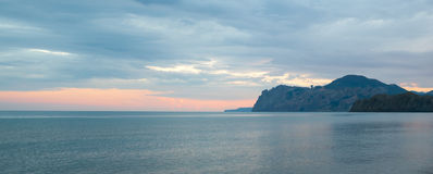Crimea Karadag berg royaltyfri bild
