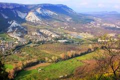 Crimea landscape on beautiful mountains Stock Photos